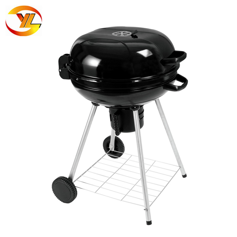 Factory Price 22inch Round Bbq Grill With Swing Up Lid Garden Barbecue Cooking