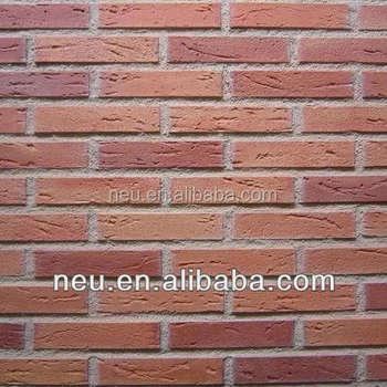 Polyurethane Red Brick Panel,Face Bricks Panel For Wall Cladding ...