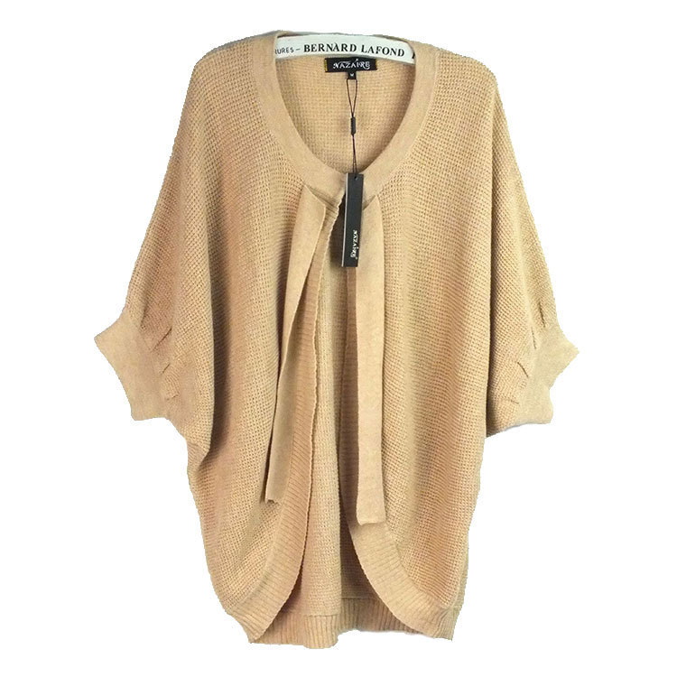 380ddb1893 Get Quotations · New 2015 Fashion Autumn Winter Womens Casual Solid color  Half sleeve Wool Cardigans Cape Sweaters Shrug