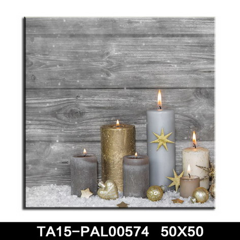 Pop canvas wall art light up candle wall picture printing polyester fabric canvas wholesale