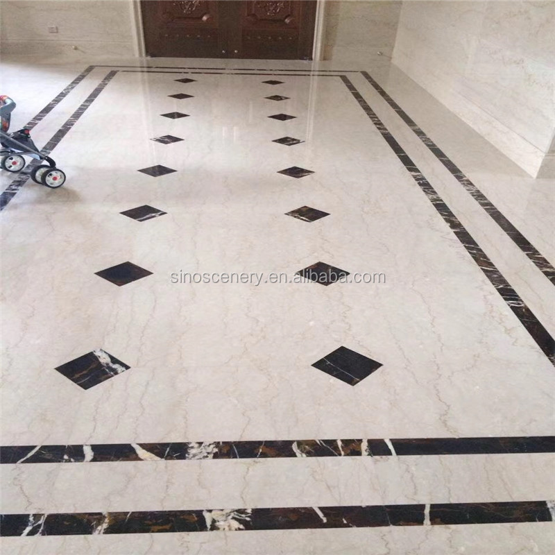 Marble Flooring Corner Designs With Botticino Classico