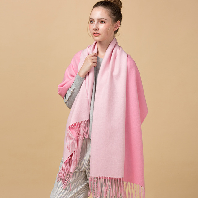 c773cb72a737 High quality new design fashion personalized winter hot sale solid two  colors wool scarf