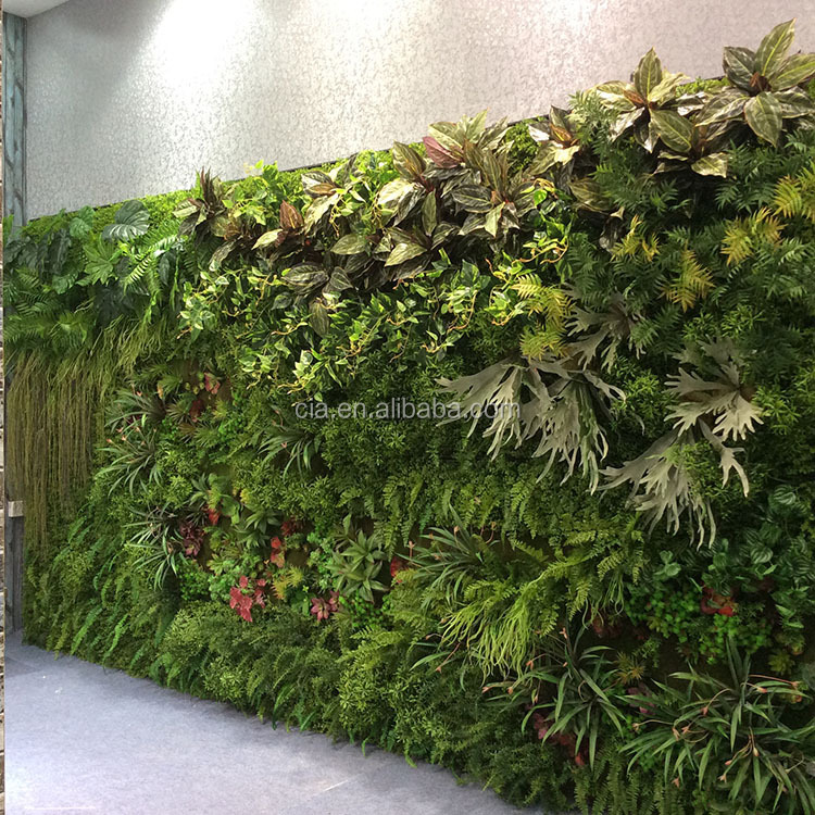 Green Wall Modules Plastic Vertical Garden Plants On Walls
