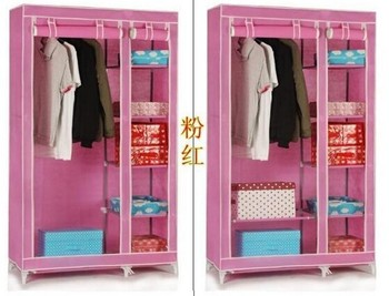 Easy Moving Cloth Kids Cupboard Fabric Wardrobe Closet