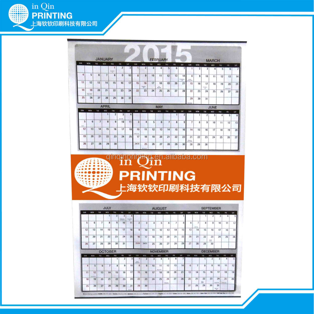 wall calendar printing with metal clip and calendar 2016 buy calendar printingcalendar