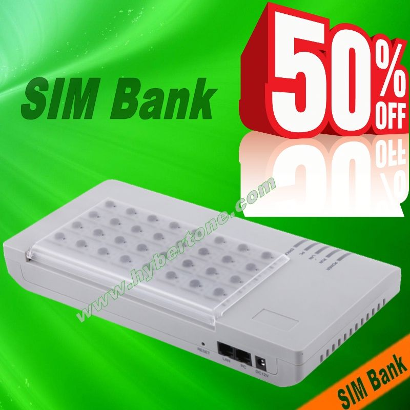 50% off discount SIM Bank SIM Sever gsm isdn