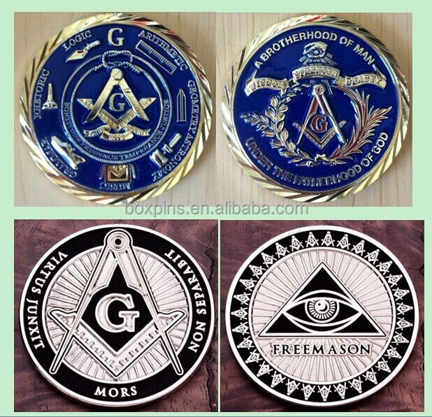 Masonic Freemason Master Mason Metal Enamel Rear Car Auto Emblem ...