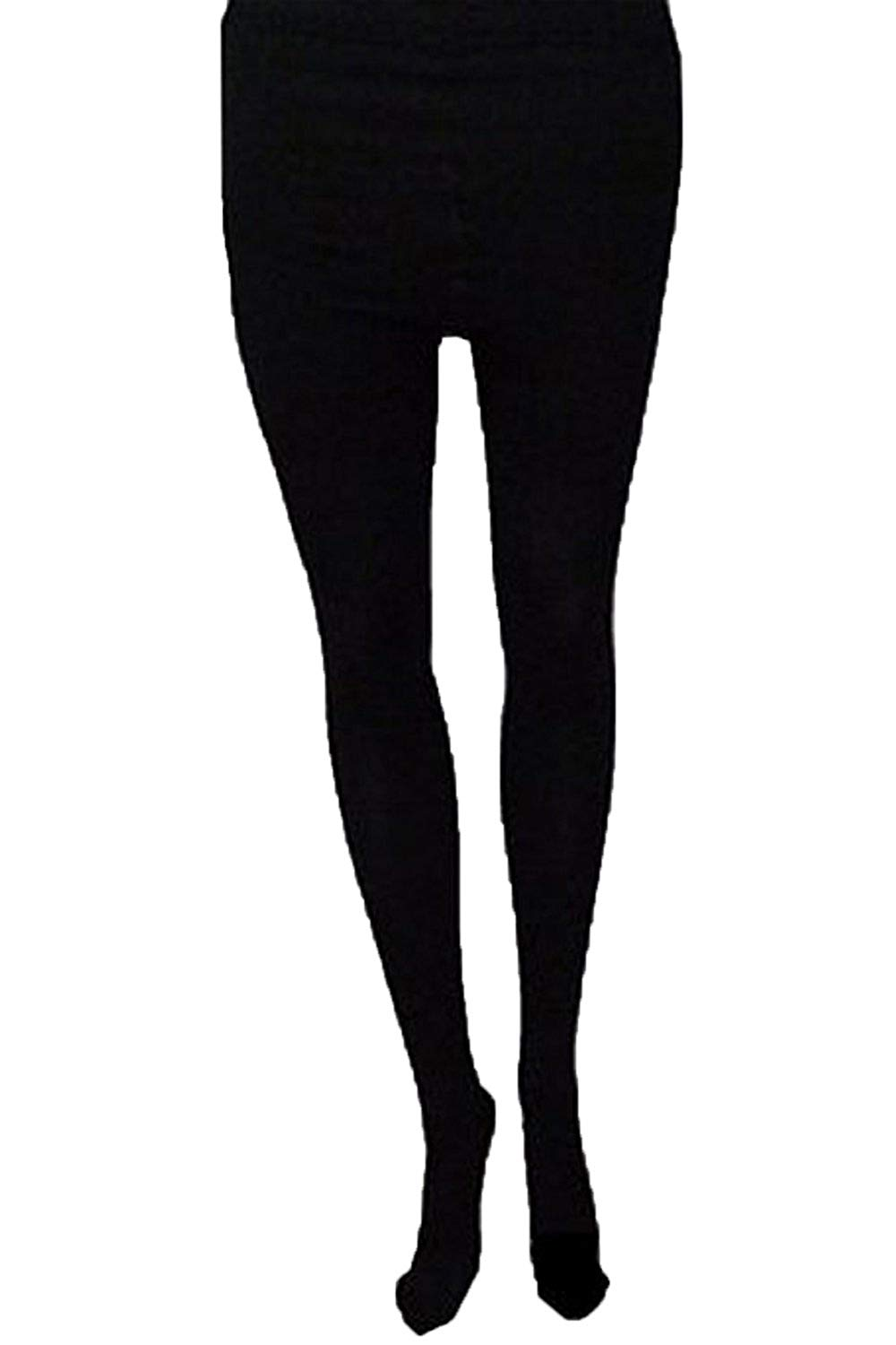 2cddca11af798 Get Quotations · Womens Opaque Black Tights By Silky Thermal Fleece 140  Denier