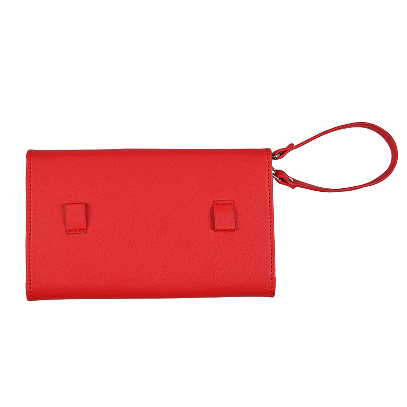 Wholesale Custom Design Red Personalized Leather Passport Holder Multi-Functon Trifold Passport Cover