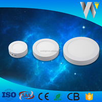 Factory bottom price 12w led panel light round surface with 2 years warranty