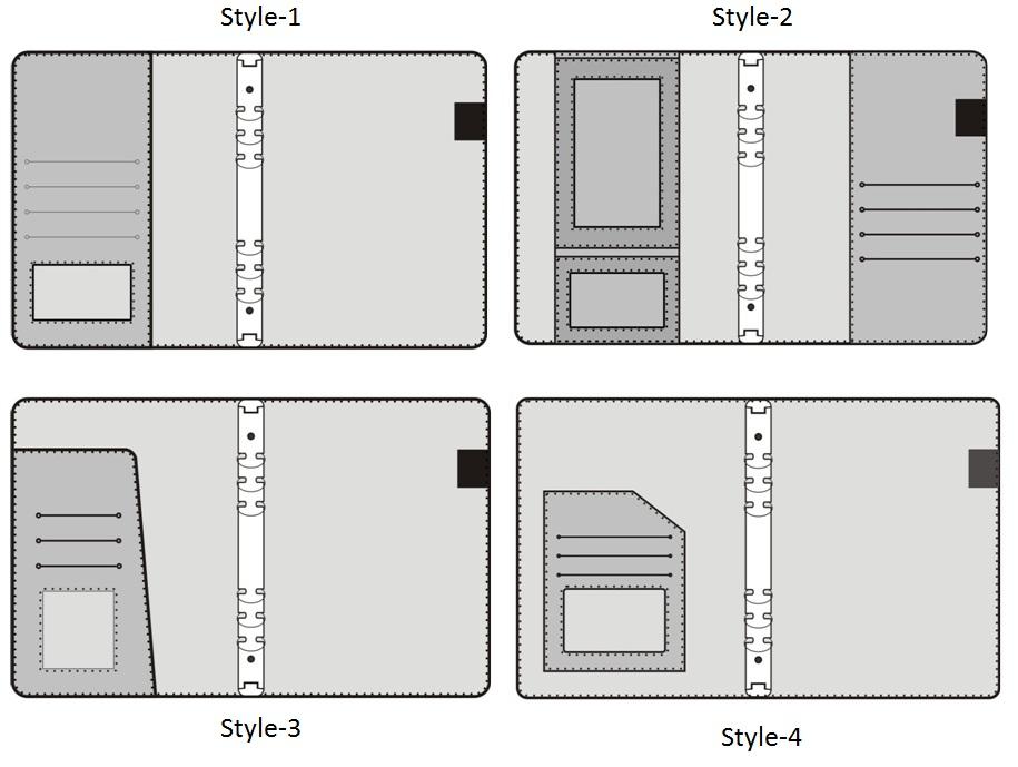 पु सर बचाव के साथ refillable भराव नोटबुक में A5 आकार के साथ कलम धारक