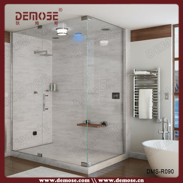 Locker Room Shower Corner Shower Enclosure 3 Doors Sliding