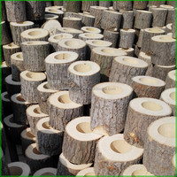 Creative Decorative Rustic Wood Tea Light Candle Holders for Party Table Decoration