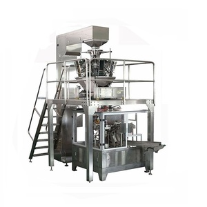 Biltong Beef Jerky Snack Food Bag Given Rotary Packaging Machine System with Multihead Weigher