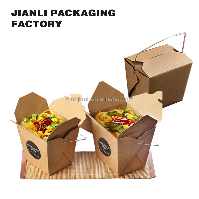 fashion decorative customize biodegradable take away wax coated paper food box