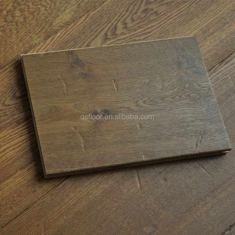 hot sale wide plank smoked oak engineered flooring