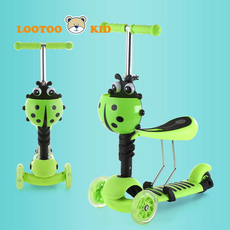 Alibaba china factory wholesale cheap price 2 in 1 multifunctional foot kick scooter child seat