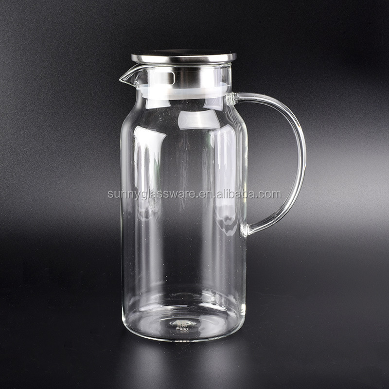 transparent coffee glass jug with color box