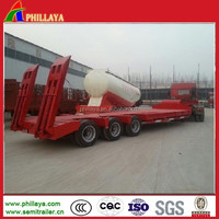 Size Optional Lowbed Fuwa Torsion Axle Trailer For Heavy Dutry Machine Transportation