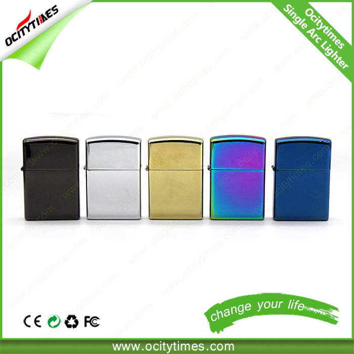 Stocking offer colorful usb lighters smoking accessories hot OCITYTIMES arc electric lighter usb