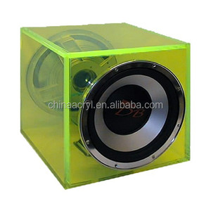 Color Round Driver Sealed Woofer speaker box hot acrylic speaker box