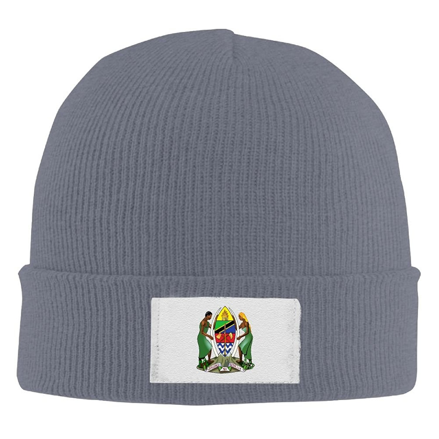 Get Quotations · BNM01KZI Men   Women Cap Coat Of Arms Of Tanzania Warm  Sports Style Warm Knit Beanie dc260a1b018f