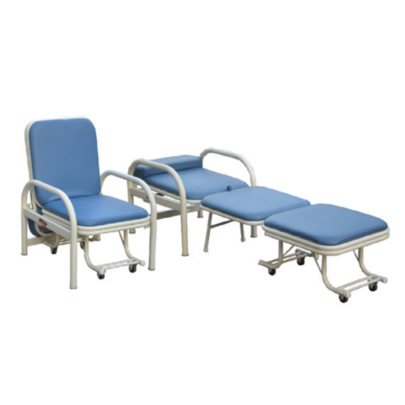 Medical Manual Foldable Accompanying Chair For Hospital
