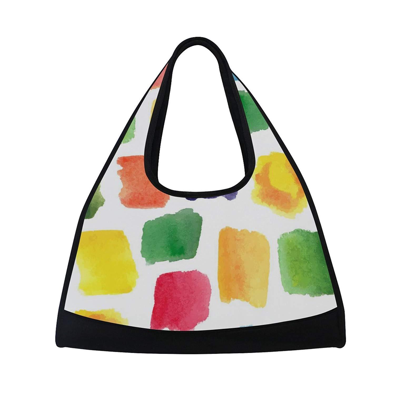 Sport Gym Bag Watercolor Colorful Canvas Travel Duffel Bag