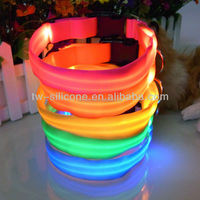 Led Light Night Visible Pet Collars For Dogs Cats Safety Pet Collars