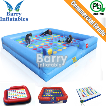 Commercial inflatable Twister for fun, competitive price Interactive Sports Game