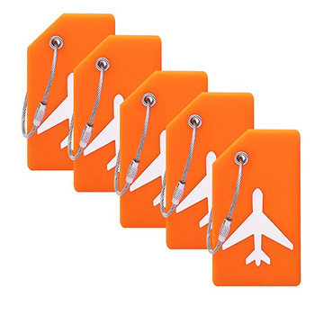 Free sample airplane shape soft pvc business card size 짐 tag