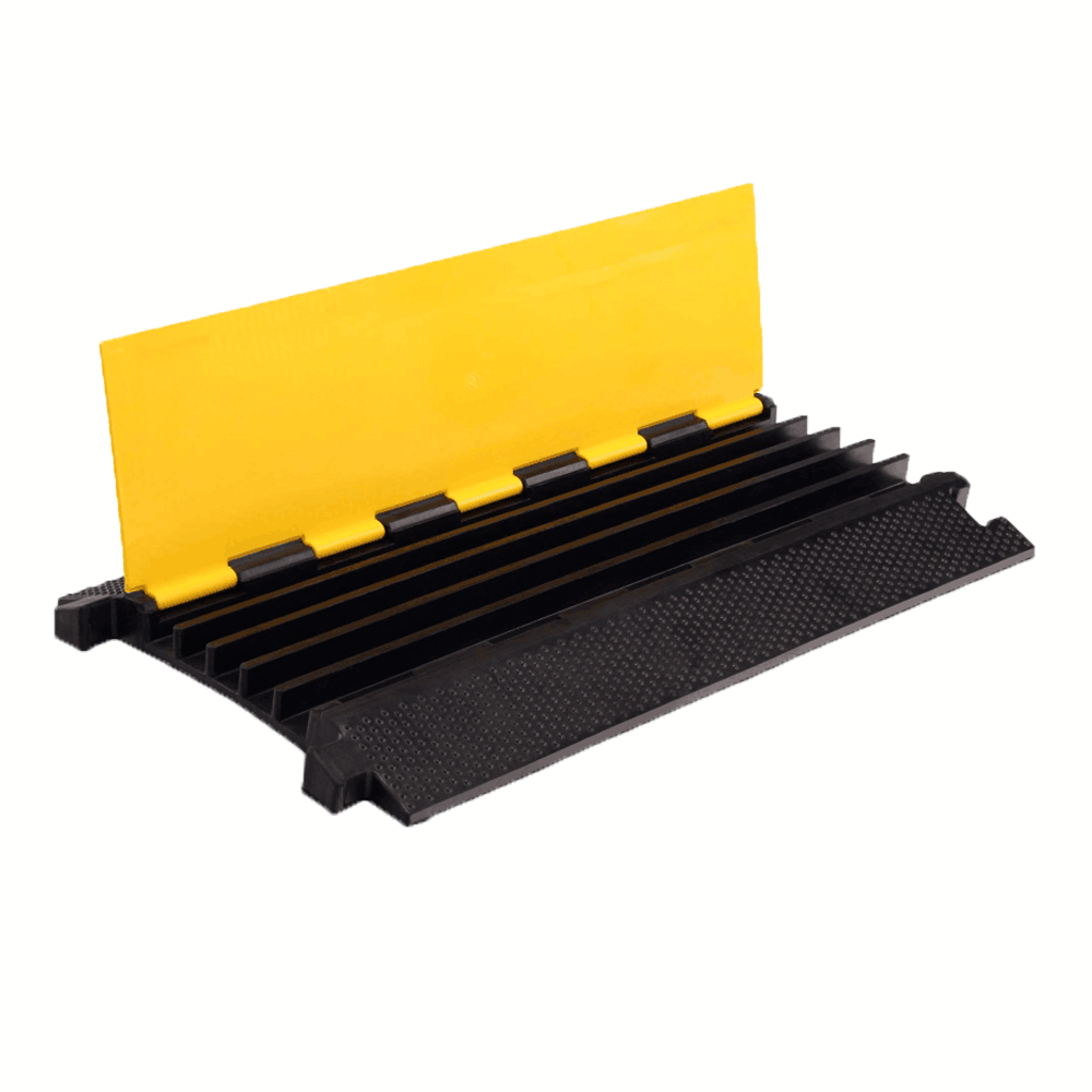 cable guard Rubber 5 Channel floor cable protector