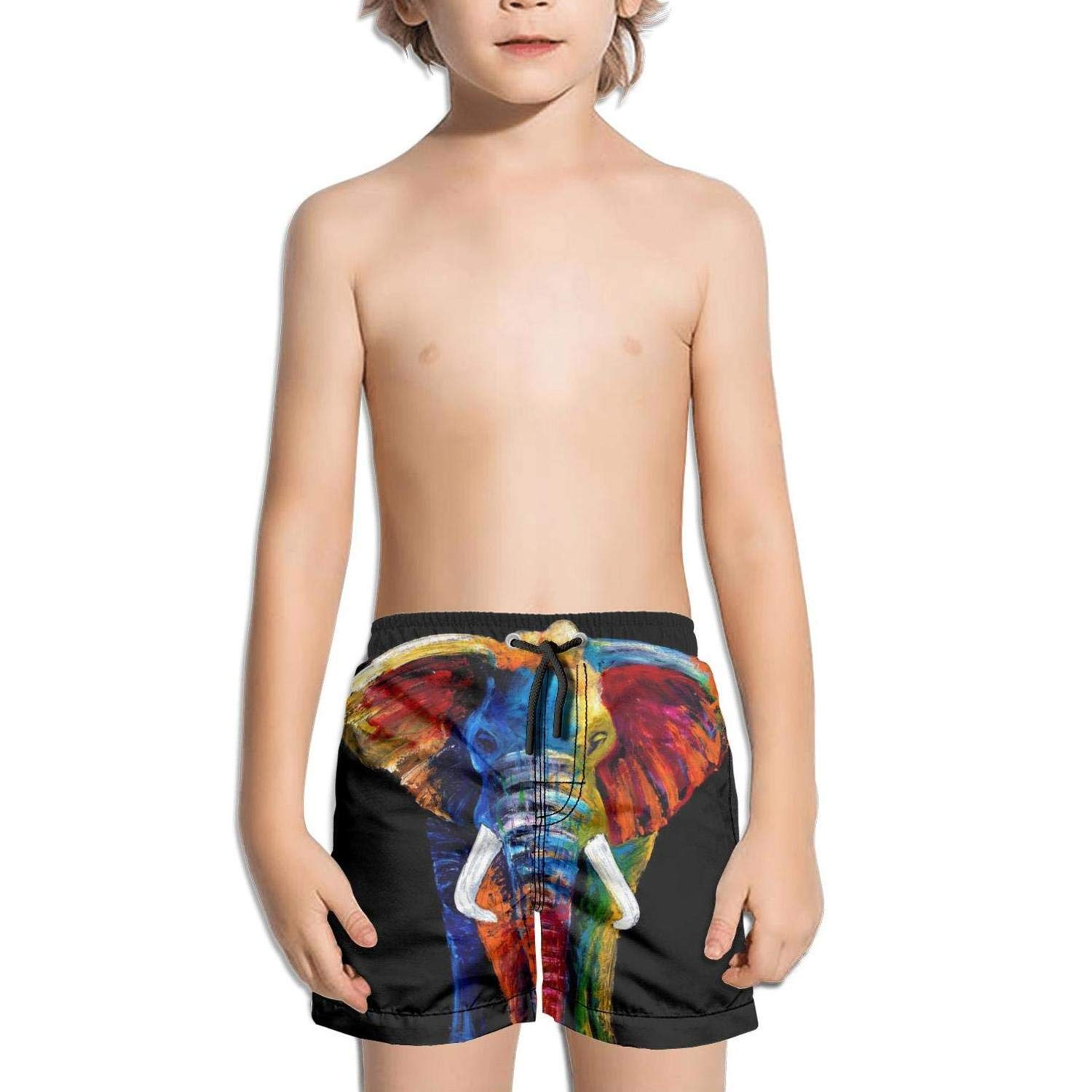 Rhinoceros Colored Africa Mens Swim Trunks Beach Shorts with Mesh Lining Boardshort