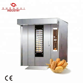SH100 CE small gas commercial bread rotary bakery oven machine