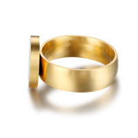 ATHENAA plain surface round Dubai gold ring designs man finger ring