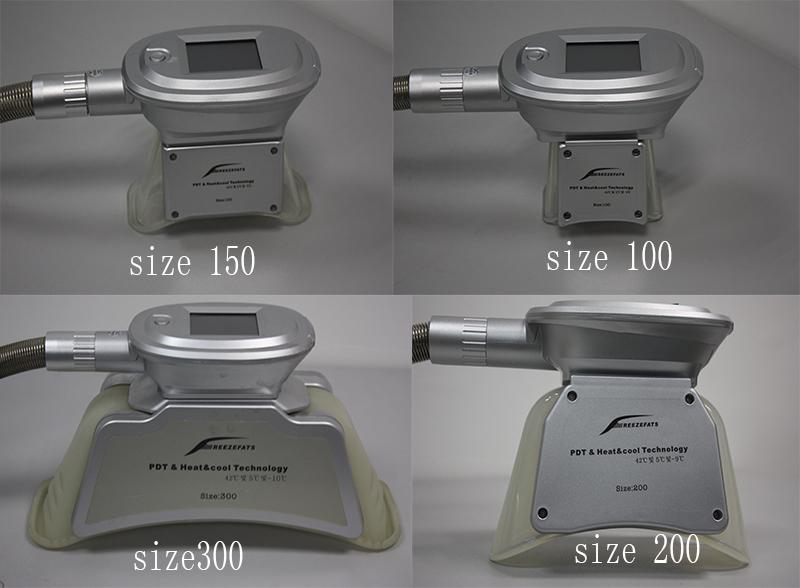 ETG50-4s factory cryo probes head SIZE 100 150 200 300 Cryo Handles Small Medium Large criolipolisis Cryolipolysis Handpieces
