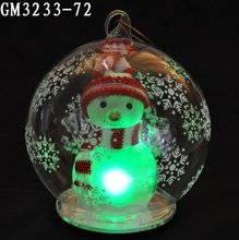 100 wholesale led clear christmas glass ball ornaments