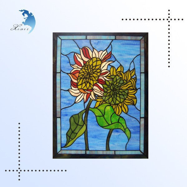Custom design tiffany abstract stained glass patterns for window