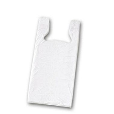 Plastic t shirt Shopping Bags in block pack