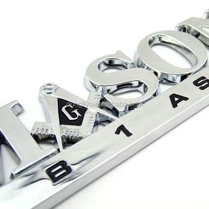 Custom chromed ABS Mason letter auto logo car badges emblems