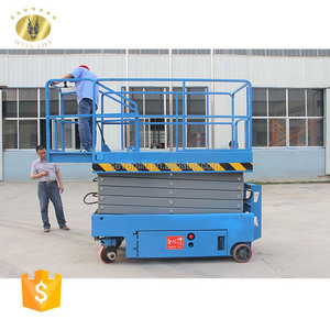 7LGTJZ Shandong SevenLift auto scissor wholesale outdoor using easy operation 10m mobile battery powered lift