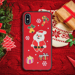 Novel design Christmas cute gift 3D stitching mobile accessories cover case for Iphone 8