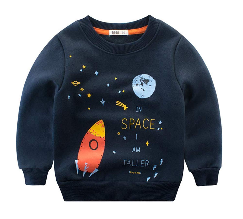 Boys Skull Print Silver Studded Top Kids Jumper Girls Sweatshirt Tee Tops New