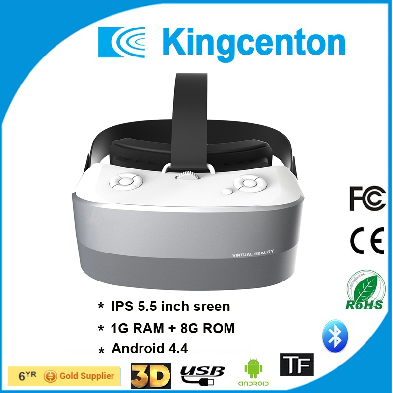 All in One 3D VR Glasses Virtual Reality Headset with WIFI,BT and TF card supported VR Box