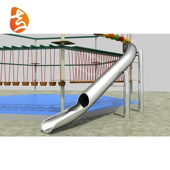 Custom top quality stainless steel children playground slide equipment
