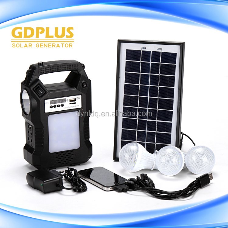 Wholesale solar and solar power system home factory price solar panel systems with charger and bulbs and radio
