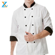 Katoen Twill lichtblauw hotel uniform <span class=keywords><strong>chef</strong></span> jas