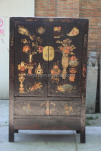 Chinese Antique Asian Furniture Shanxi painted wedding cabinet