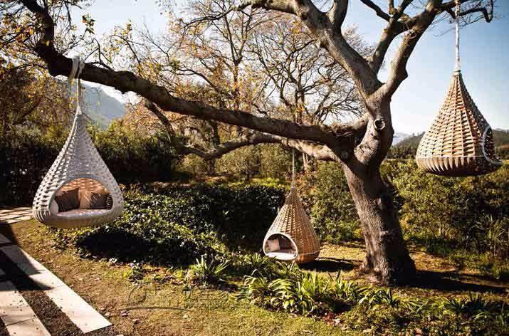 Swing Hanging Chair Patio Bed Adult Rattan Bamboo Nest Outdoor Garden Swing