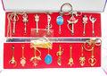 Sailor Moon Necklace weapons 2styles Pendant Cosplay Pretty Guardian Tsukino Usagi Keychain 8pcs set Free Shipping